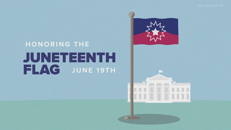 Juneteenth is now a federal holiday. Here is the meaning behind the flag