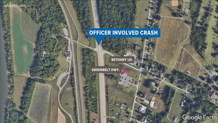 1 in critical condition, LMPD officer injured in crash on Greenbelt Hwy.