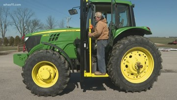 Son gives farmer dad just the lift he needs to work the fields