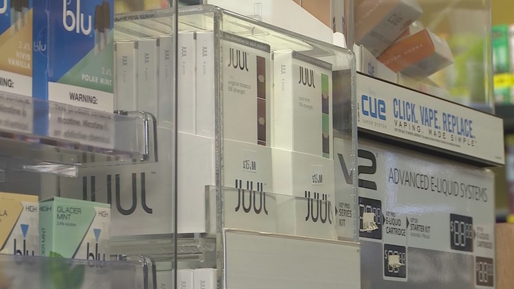 Juuling devices on display (Photo: WHAS11)