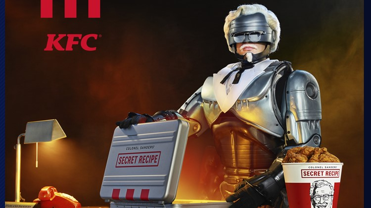 KFC selects Robocop as newest colonel to protect secret recipe of 11 herbs and spices