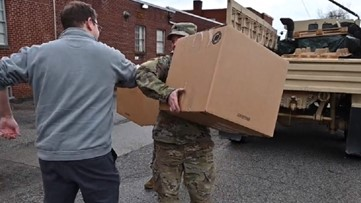 West Virginia National Guard delivers medical supplies to hospitals to aid in coronavirus prevention