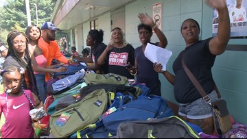 Mothers impacted by gun violence support students heading back to class