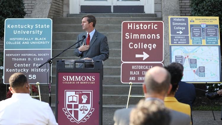 Beshear unveils new highway signs highlighting Kentucky's HBCUs