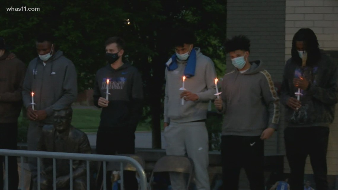 Friends, teammates hold vigil for Terrence Clarke