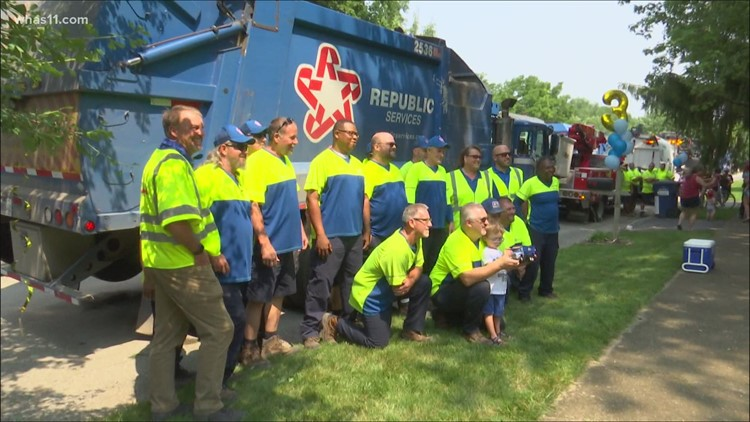 'Wanted to give him something money can't buy': Indiana gets garbage truck parade for 3rd birthday