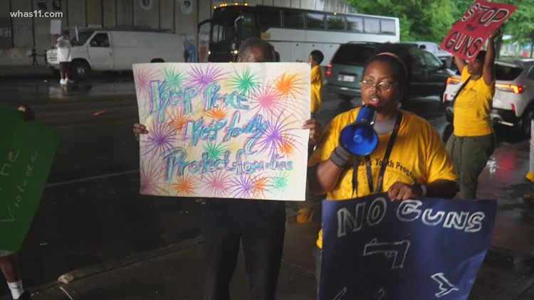 'Use the power of voice' | Kids in Louisville march against gun violence