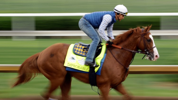 Baffert's Improbable remains favorite to win the Preakness