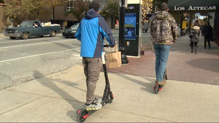 Louisville to add designated parking spots for e-scooters