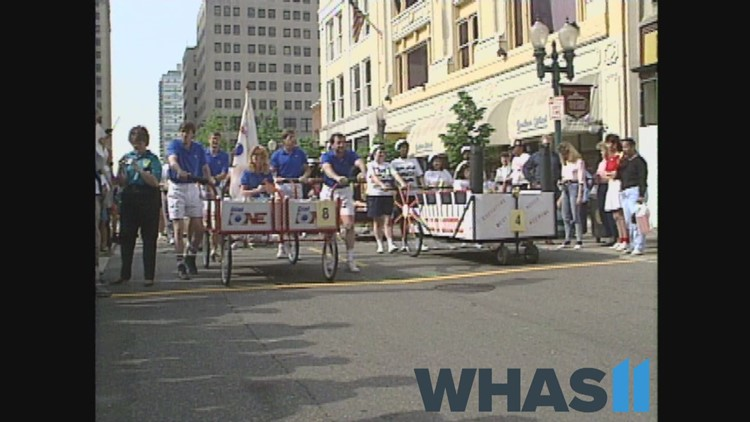 Throwback: Check out past bed races during Derby Week in Louisville