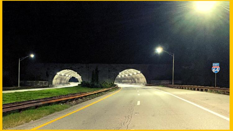 Cochran Hill Tunnels LED light installation complete