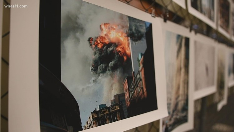 Library exhibit features collection of photos from September 11