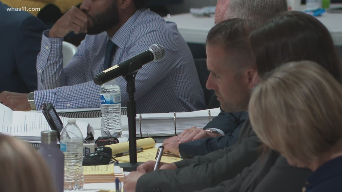 Former officer who secured search warrant for Breonna Taylor's apartment attend hearing to get job back