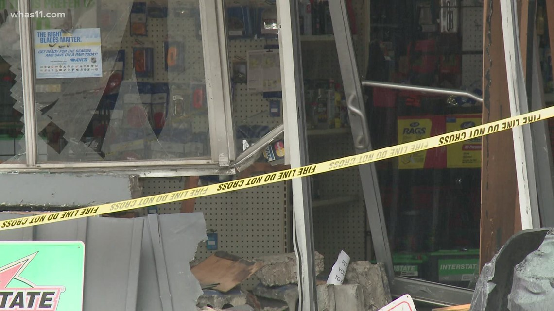 Business damaged following collision on Bardstown Road