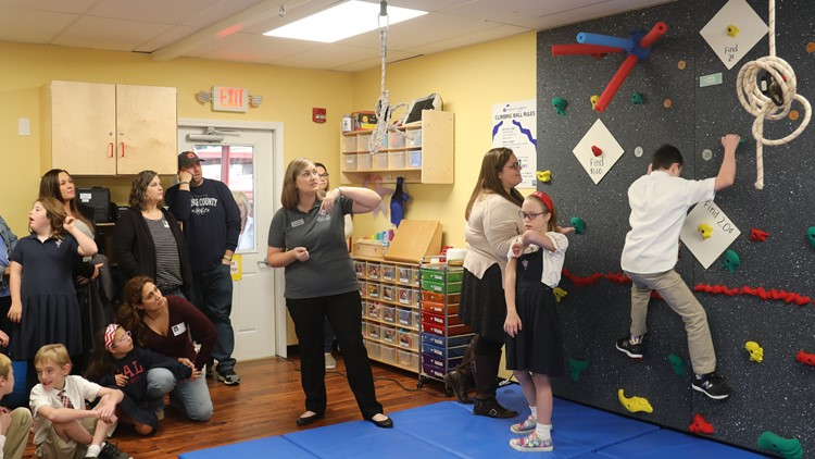 Louisville school receives  sensory gym for students with down syndrome, educational or sensory needs