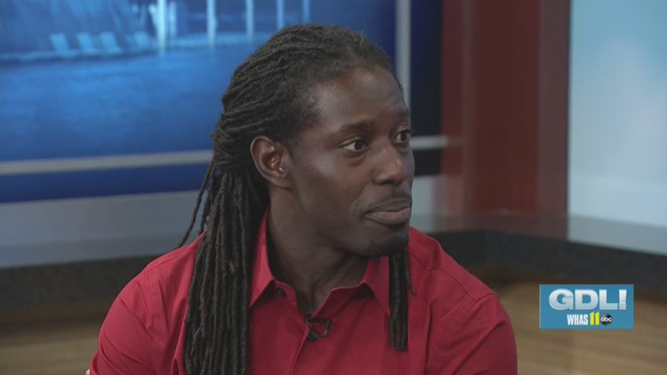Former Cardinal Deion Branch teaches kids the techniques of football