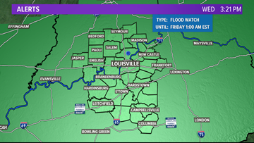 More rain expected into Thursday with flooding possible across Kentuckiana