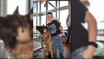 9-year-old Strongsville boy is on mission to donate bulletproof vests to police K-9s across Ohio