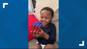 Boy genius! Watch as a 3-year-old Ohio boy solves Rubik's Cube