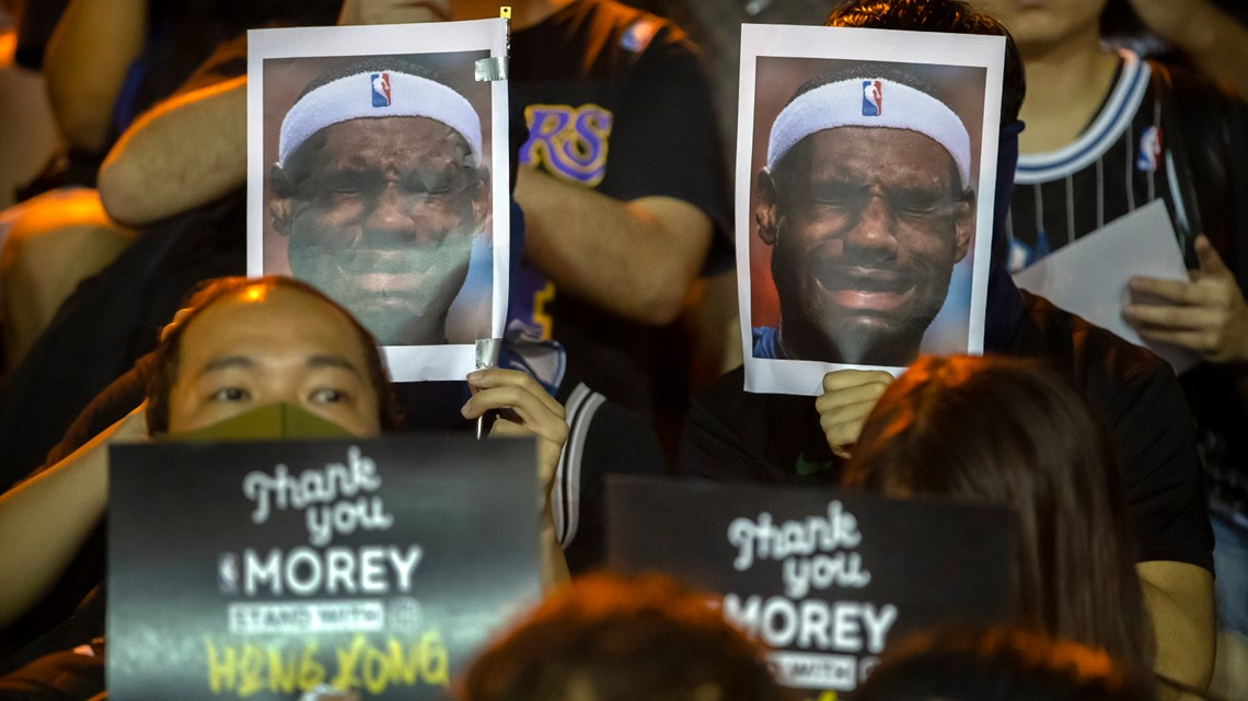 Hong Kong protesters target LeBron James after Daryl Morey comments