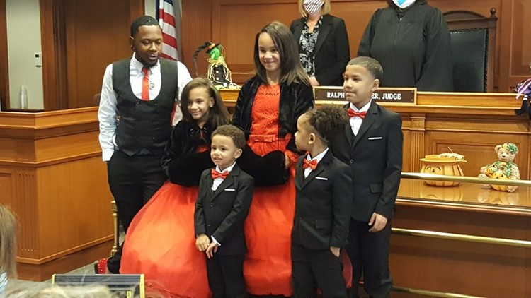 Ohio man adopts 5 siblings as foster children