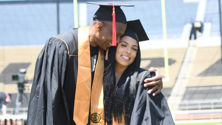 Football star Keena Turner graduates from Purdue alongside daughter