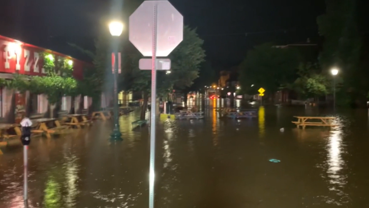 Floodwaters receding from Bloomington streets after heavy rain overnight