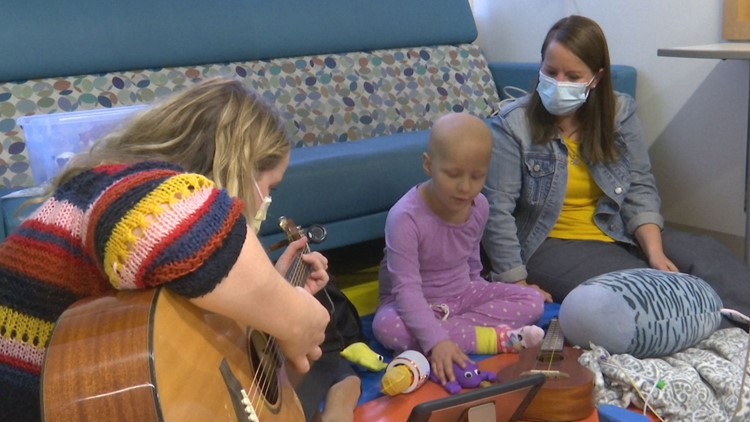 Music therapy brings healing power to 5-year-old Riley cancer patient