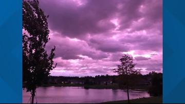 TIMELAPSE: Florida sky turns purple after Hurricane Dorian