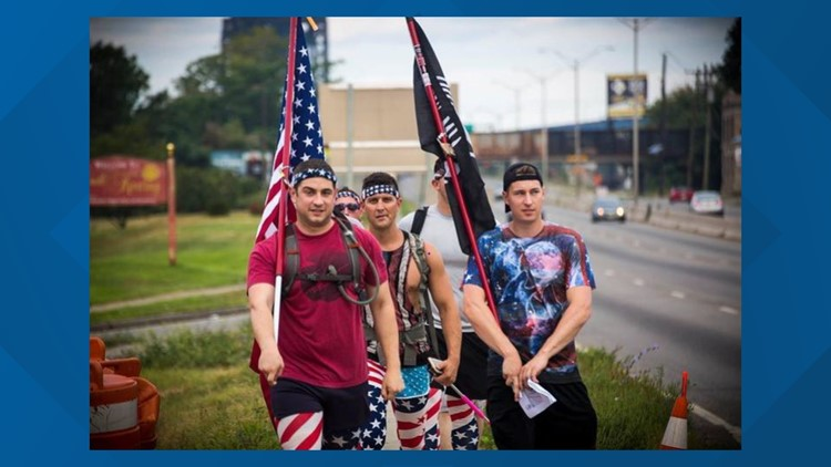 A personal and patriotic pilgrimage: US service members walk 100 miles to remember lives lost on 9/11
