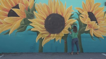 'Right now, it's so needed': Florida couple starts 'Happy Mural Project' as a way of spreading joy
