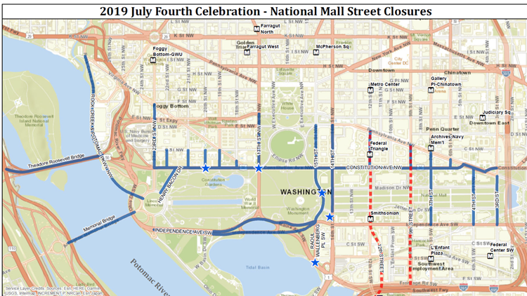 2019 fourth of july street closures