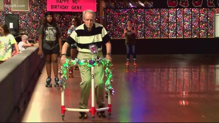 North Carolina man celebrates turning 95 at the skating rink   Get Uplifted