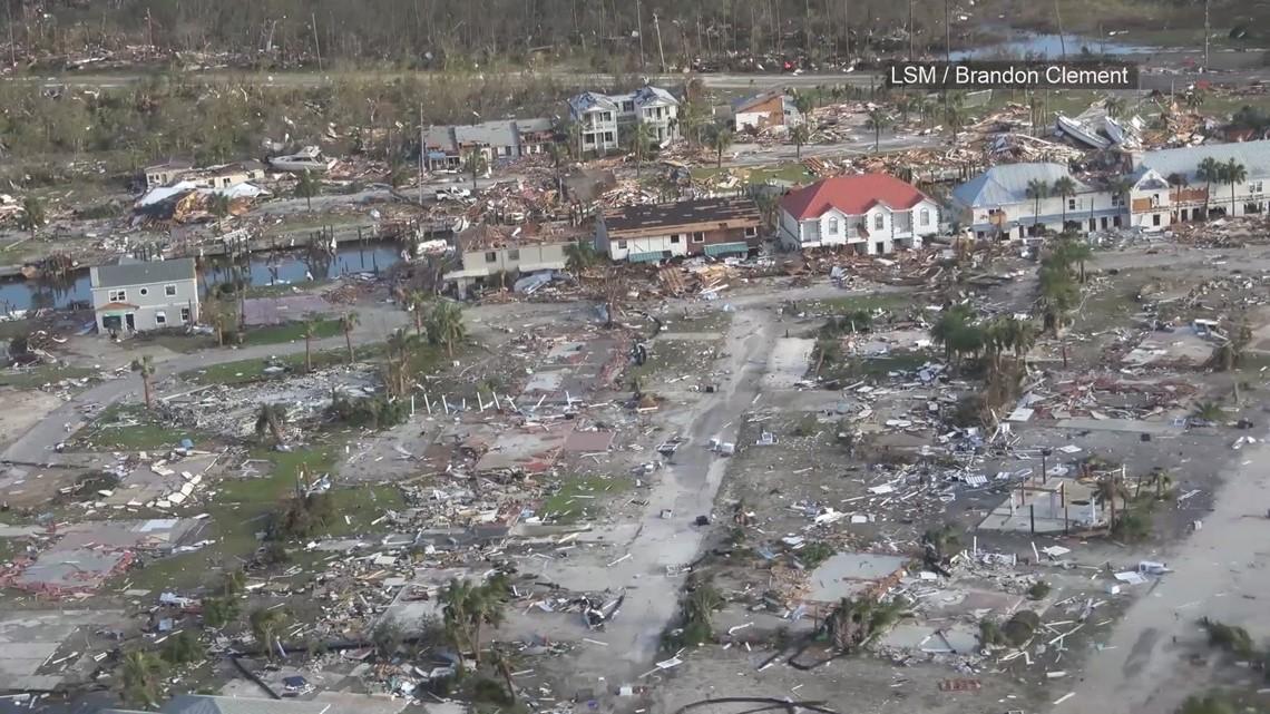 Aerial Video Hurricane Michael Devastation In Mexico