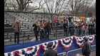 There were a lot of empty seats in the stands along Trump's parade route