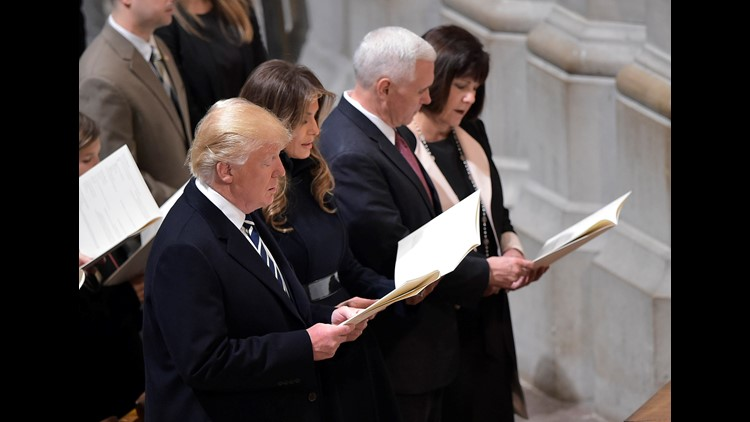 Donald Trump begins Day Two of presidency with prayers
