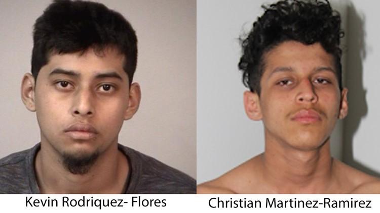 Suspects Kevin Rodriquez-Flores and Christian Martinez-Ramirez