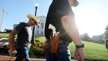 Judge upholds Virginia governor's ban on weapons at gun rally