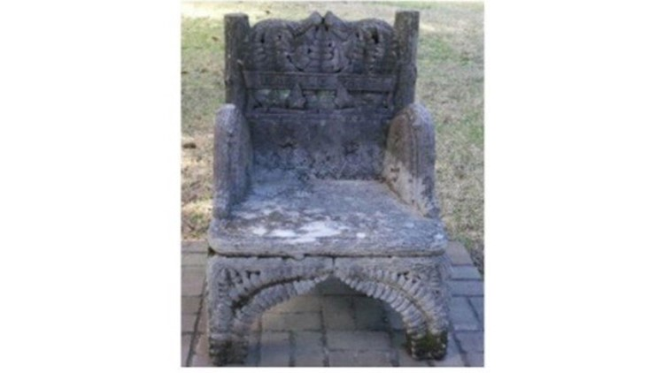 Jefferson Davis Memorial Chair stolen from Alabama cemetery found in New Orleans