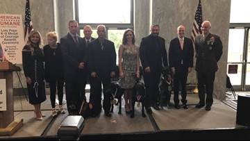 4 retired military dogs given K-9 Medal for Courage