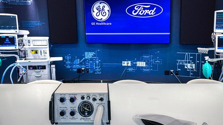 Ford, GE to make 50,000 ventilators over the next 100 days